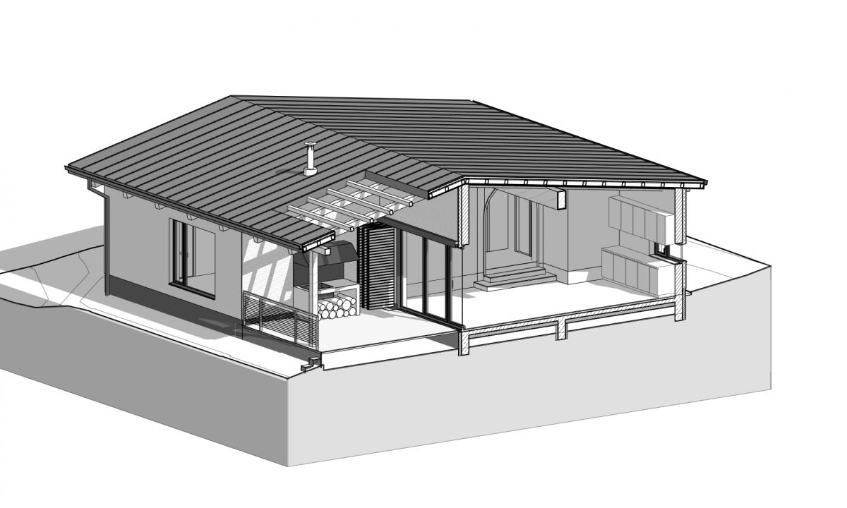 Еднофамилна къща, Дървена конструкция, Архитектура, Големо Бучино, София, България
