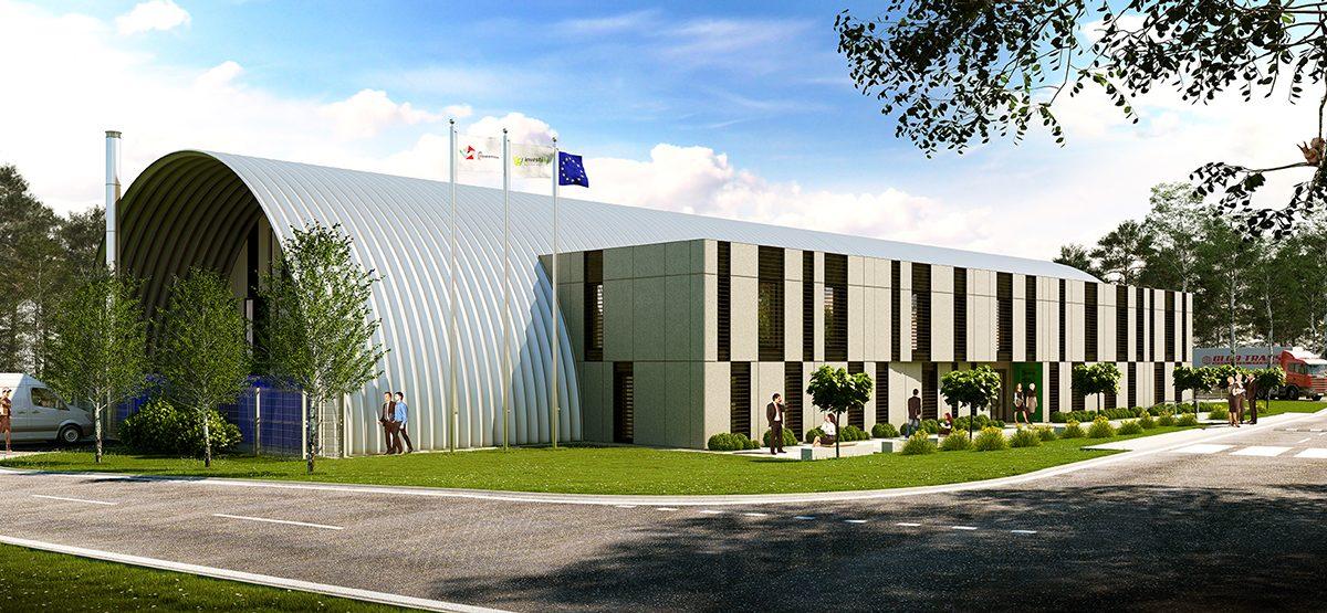 Офис сграда, Технологичен шоурум, Архитектура, Швентохловице, Полша