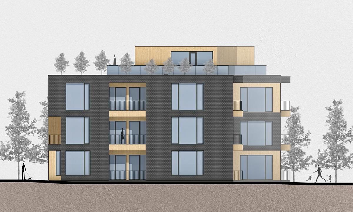Многофамилна жилищна сграда , Апартаменти , София , Архитектура