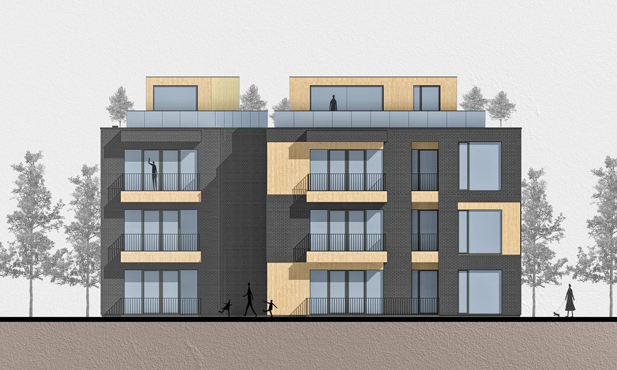 Многофамилна жилищна сграда, Апартаменти, София, Архитектура
